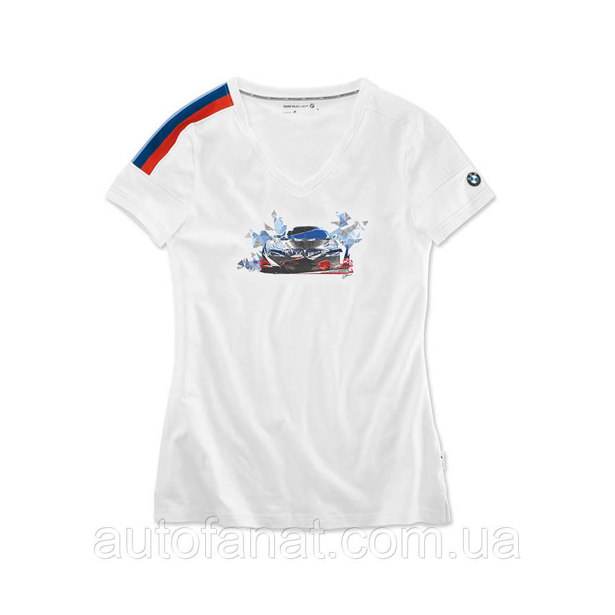 Оригинальная женская футболка BMW Motorsport Motion T-Shirt, Ladies, White (80142446391)