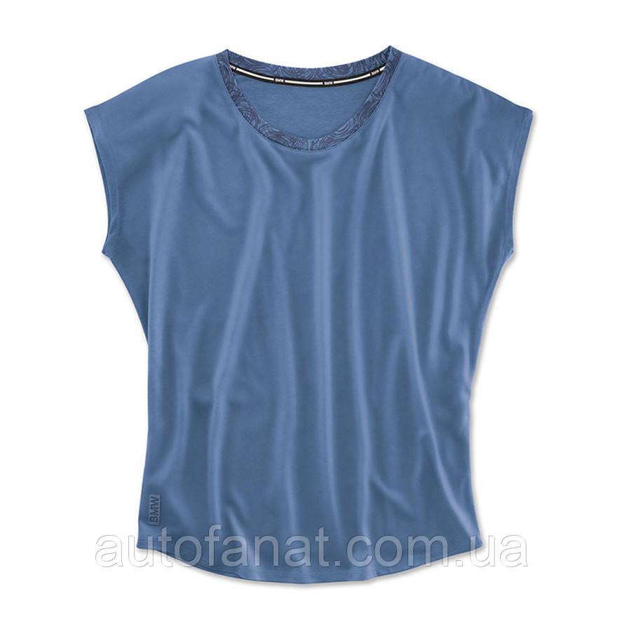 Оригинальный женская футболка BMW Active T-Shirt, Functional, Ladies, Blue (80142445964)