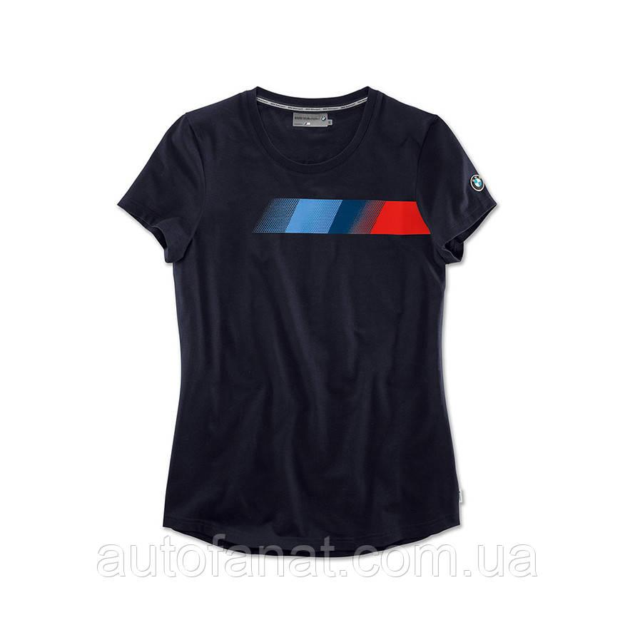 Оригинальная женская футболка BMW Motorsport Fan T-Shirt, Ladies, Team Blue (80142446396)