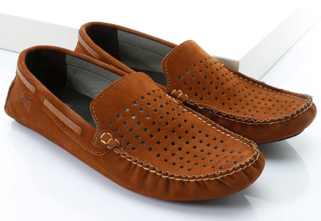 Летние мужские мокасины коричневого цвета 41р