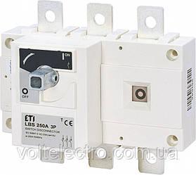 Выключатели нагрузки LBS 250A 3p (без рукоятки)