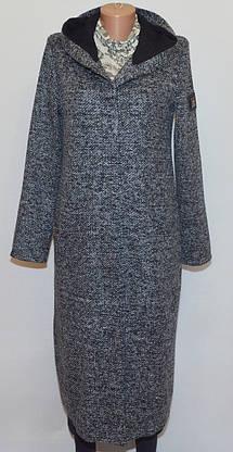 Женский длинный кардиган букле  с капюшоном (M), фото 2