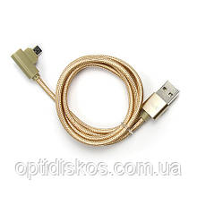 Кабель USB-micro USB угловой, Havit, HV-CB8603, золотистый