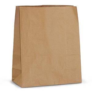 Пакет бумажный с дном 32х15х38 см., 70 г/м2, 250 шт/ящ без ручек, бурый крафт
