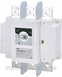 Выключатели нагрузки LBS 1000A 3p (без рукоятки)