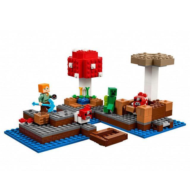 """Конструктор Minecraft Bela 10619 """"Грибной остров"""" (аналог Minecraft 21129)"""