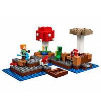 """Конструктор Minecraft Bela 10619 """"Грибной остров"""" (аналог Minecraft 21129), фото 1"""