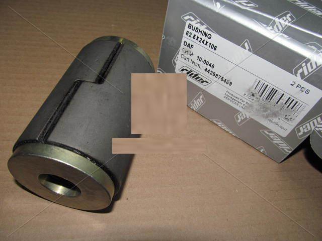 Сайлентблок 62,5*24*106 рессоры DAF CF65, 75, 85, XF95,105 RIDER 10-0045