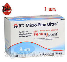 Иглы Микро-Файн (Micro-Fine) 8мм — 100 шт