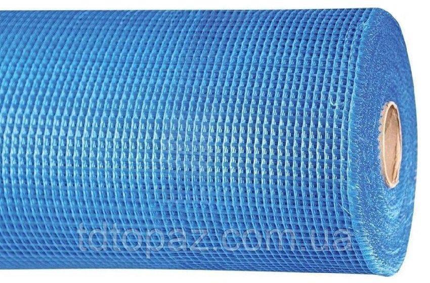 Сетка стеклотканевая 1м*50м 5*5 голубая