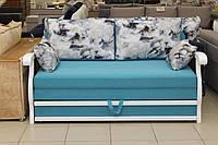 Раскладной диван с деревянными быльцами, фото 1