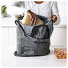 Сумка для покупок IKEA KNALLA черная белая 203.304.91, фото 2