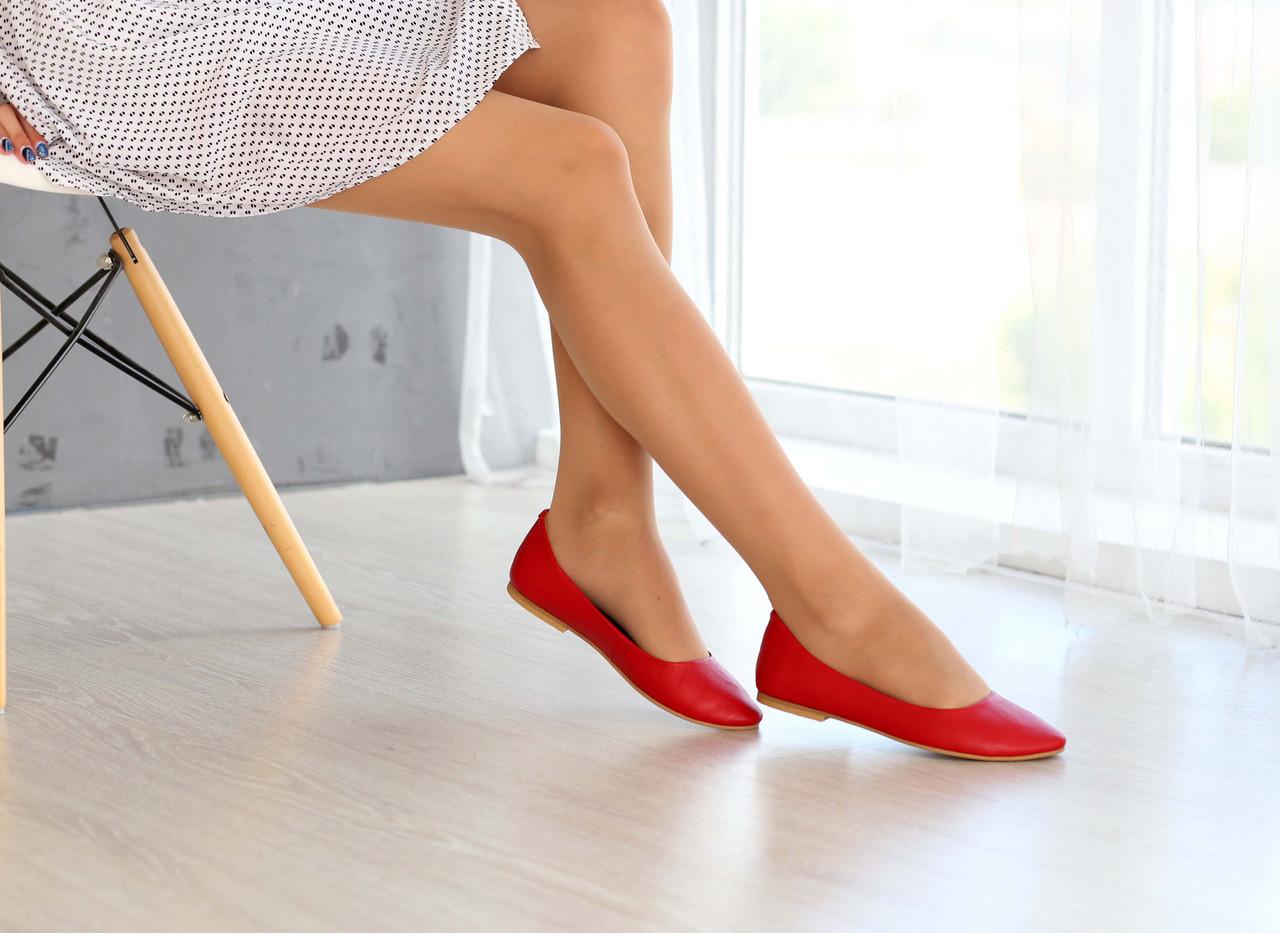 8f032bed1 Красные кожаные балетки, цена 580 грн., купить в Харькове — Prom.ua ...