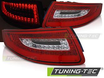 Стопы фонари тюнинг оптика Porsche 911 (997) красно-белые