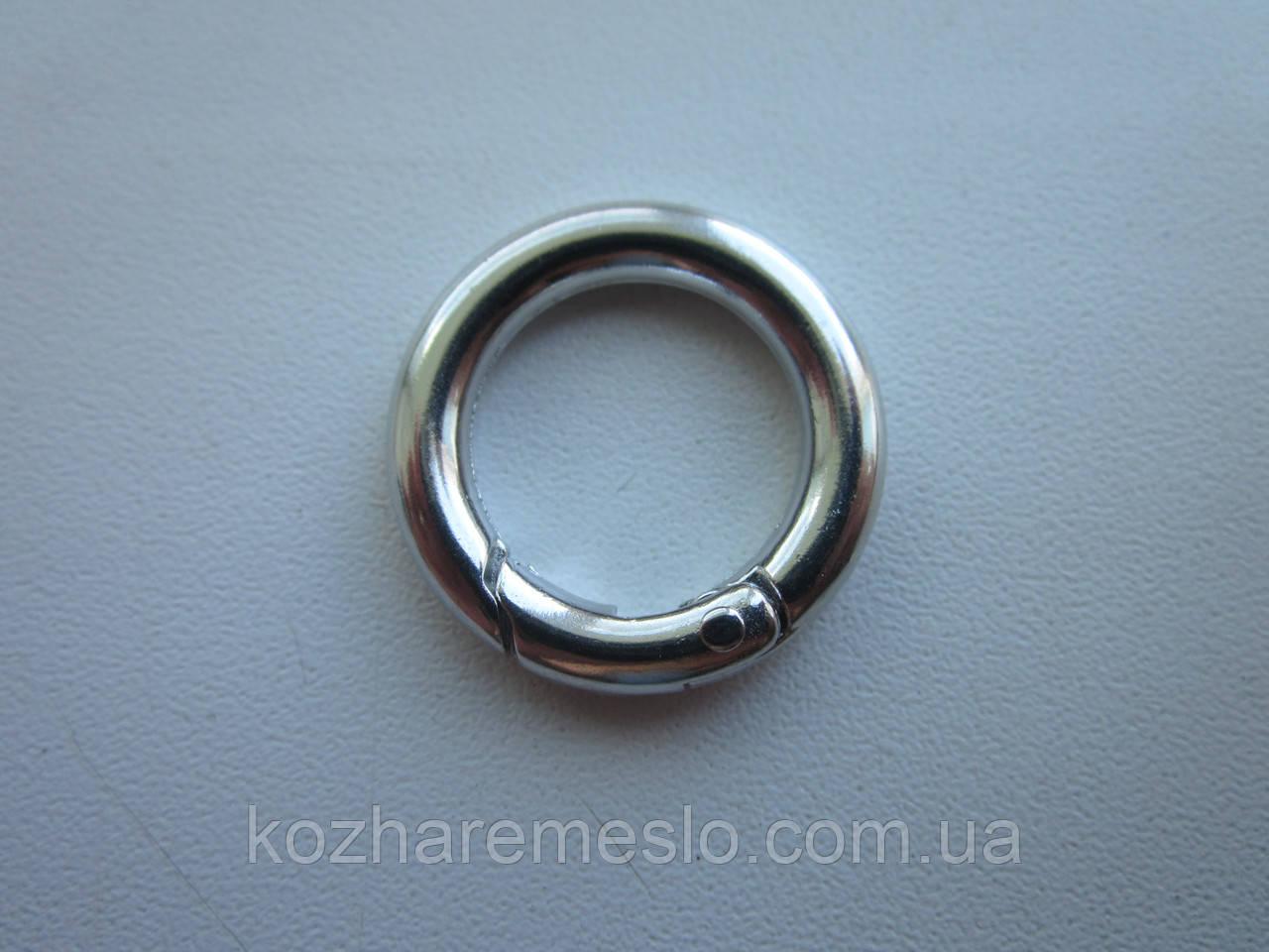 Кольцо - карабин 17 х 4 мм никель