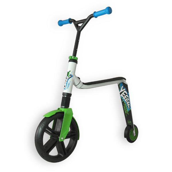 Scoot&Ride - Самокат 2в1 серии Highwaygangster бело-зелено-синий, от 5 лет, макс 100 кг