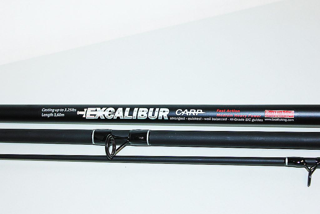 Карповое удилище BratFishing Excalibur 3.6 м.(тест-3.25 lbs)