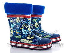 Обувь для непогоды оптом в Одессе. Детские резиновые сапоги бренда BBT для мальчиков (рр. с 30 по 35)