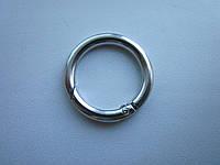 Кольцо - карабин 25 х 4 мм никель