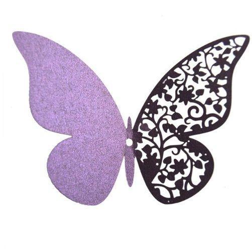 Набор фиолетовых бабочек - 12шт.