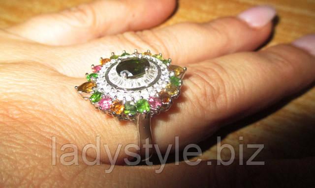 купить турмалин серебряное золотое кольцо с турмалином