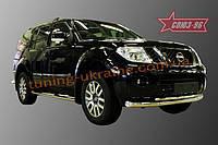 Защита переднего бампера d 76/42 двойная Союз 96 на Nissan Pathfinder 2010-2013