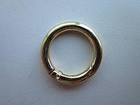 Кольцо - карабин 25 х 5 мм золото