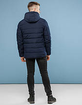 11 Kiro Tokao | Зимняя куртка мужская 6016 темно-синий, фото 3