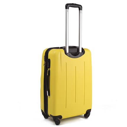 Крепкий чемодан поликарбонат малый ручная кладь 31 л WS403-34 желтый, фото 2