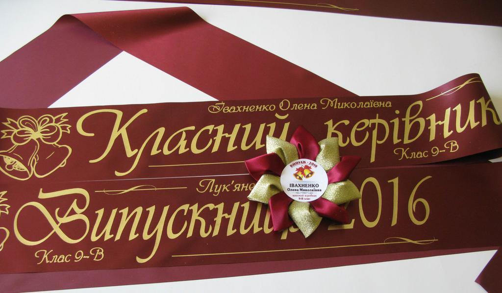 Медаль «Выпускник 2019» — «Юбилейная», лента «Выпускник 2019» и «Классный руководитель».