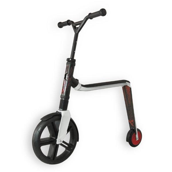 Scoot&Ride - Самокат 2в1 серии Highwaygangster бело-красный, от 5 лет, макс 100 кг