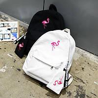 Молодежный рюкзак школьный Фламинго с пеналом, фото 1