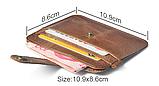 Кожаный картхолдер «Geeson» на 5 отделений коричневый, фото 6