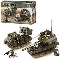 """Конструктор Sluban M38-B0288 """"Танковая группа"""" из серии """"Армия"""" 403 деталей."""