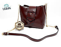 f4ee9a775a31 Женская маленькая женская сумка через плече/на плече коричневая модель 2017  года