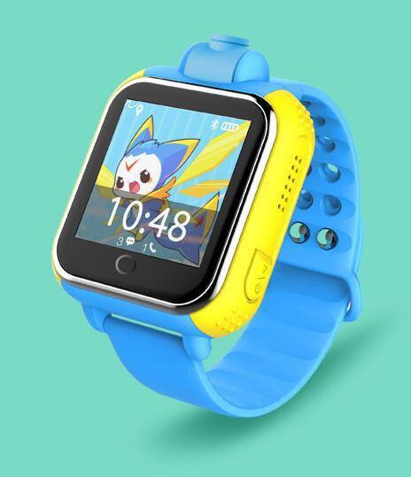 Детские часы-телефон c GPS Smart Baby Watch Q200 (голубые)