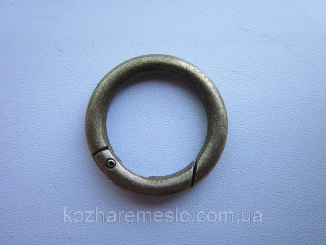 Кольцо - карабин 20 х 4 мм антик