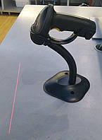 Беспроводной сканер с подставкой Alanda CT007 лазерный авто включение штрихкодов с памятью, фото 1