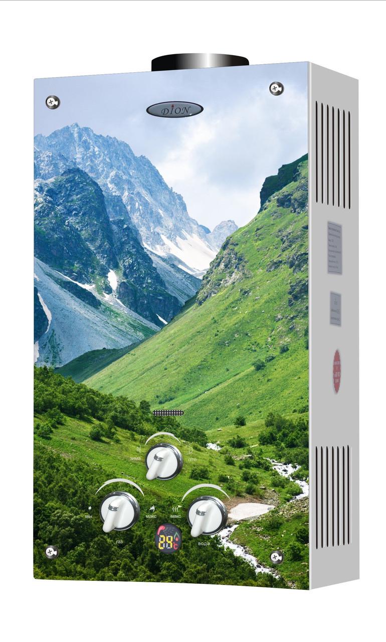 Колонка газовая дымоходная Thermo Alliance JSD20-10F2 10 л стекло горы