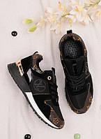 Женские кроссовки черного цвета 25803, фото 1