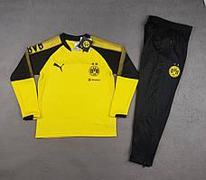 Детский костюм тренировочный Боруссия Дортмунд сезон 2017-2018 (желтый)