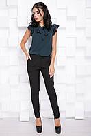 Стильные женские брюки на резинке с костюмки спорт 7073/1, фото 1