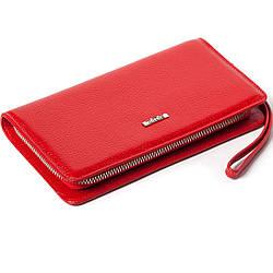 Клатч BUTUN 096-004-006 кожаный красный женский