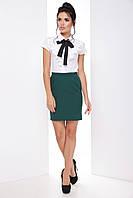 Женская модная деловая юбка с репсовыми лампасами 7071/1, фото 1
