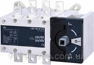Переключатель нагрузки LBS 160 3P CO (без рукоятки)