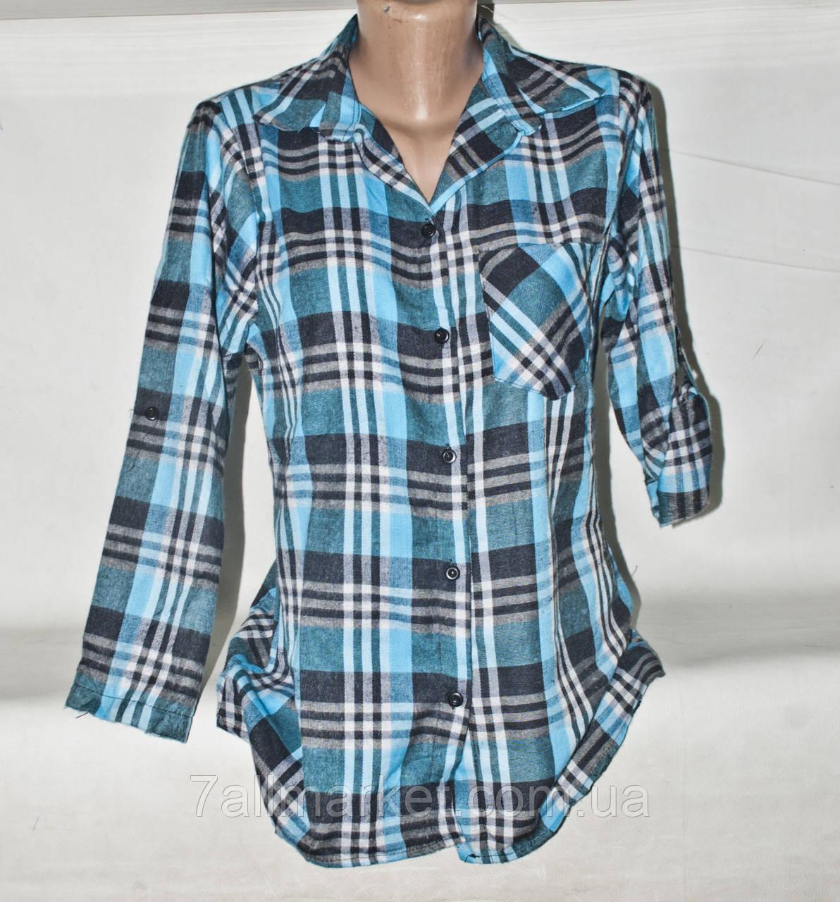 345e8d58f5f Рубашка женская молодежная в клетку