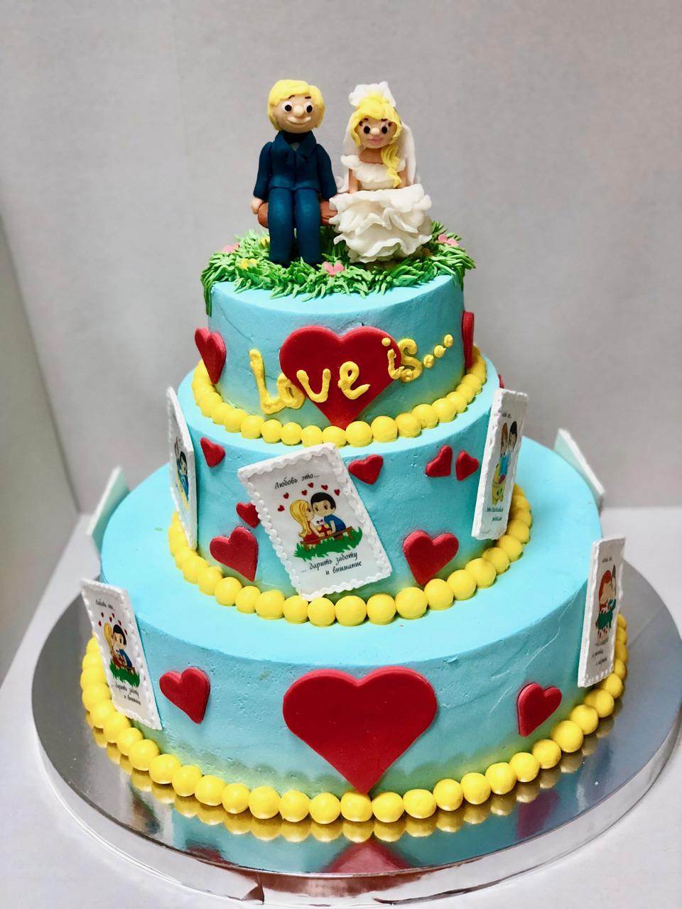 """Свадебный торт на заказ """"Вместе навсегда"""""""