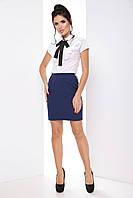 Женская модная деловая юбка с репсовыми лампасами 7071/2, фото 1