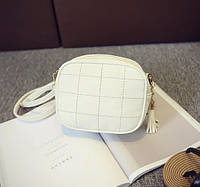 Женская маленькая сумочка через плечо белая из экокожи опт, фото 1