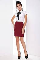 Женская модная деловая юбка с репсовыми лампасами 7071/3, фото 1